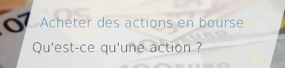 achat action bourse