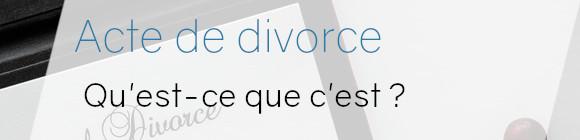 acte divorce