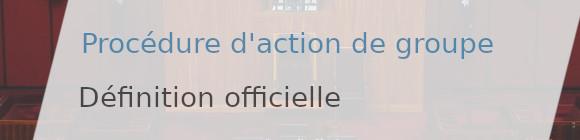 définition officielle action groupe