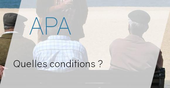 apa conditions