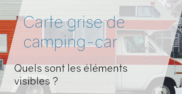 carte grise camping car