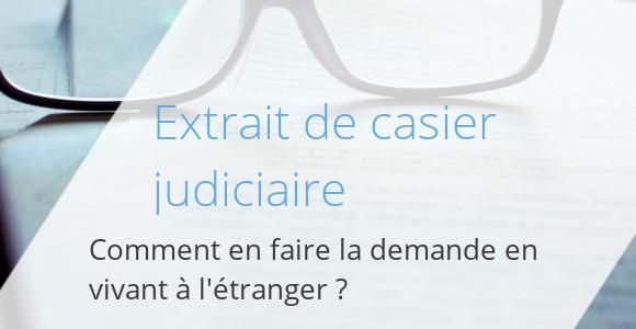 casier judiciaire étranger