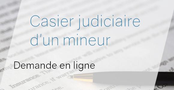 casier judiciaire mineur internet