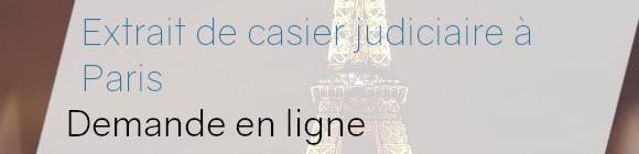 demande online casier judiciaire paris