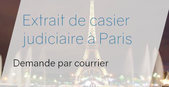 demande courrier casier judiciaire paris