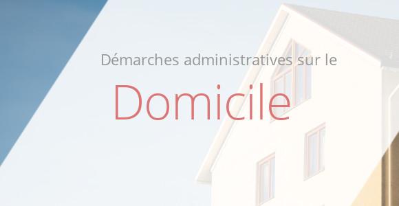 démarche administrative domicile