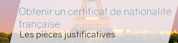 certificat nationalité française
