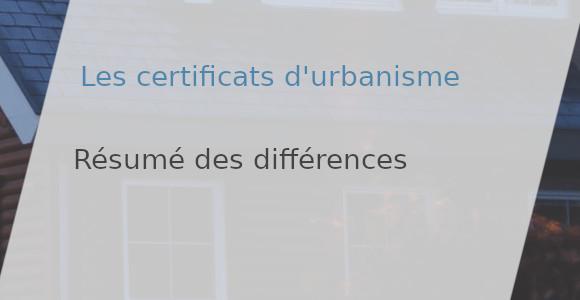 différences certificats d'urbanisme