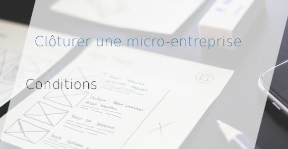clôture micro-entreprise
