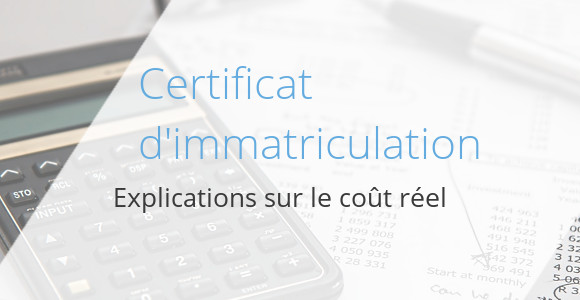 cout certificat immatriculation