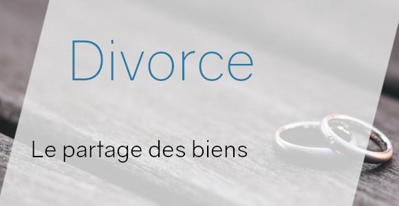 divorce partage biens
