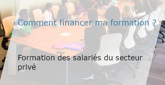 financer la formation d'un salarié du secteur privé