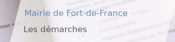 démarches mairie fort-de-france