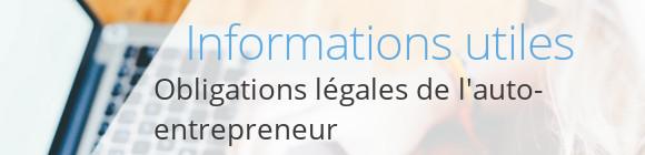 infos autoentrepreneur obligations