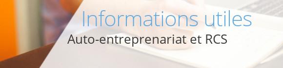 infos autoentrepreneur rcs