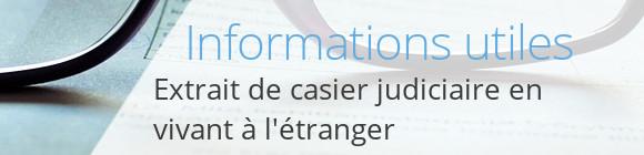 infos casier judiciaire étranger
