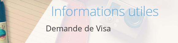 infos demande visa