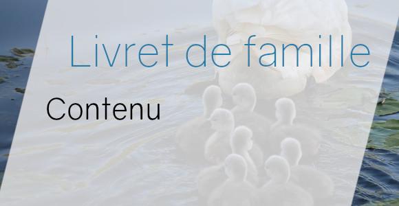 livret famille contenu