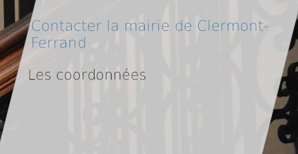 coordonnées mairie clermont-ferrand