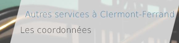 coordonnees services clermont-ferrand