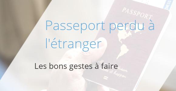 passeport declaration perte