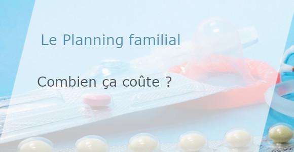 coût planning familial
