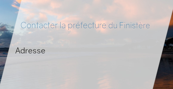 préfecture Finistère adresse