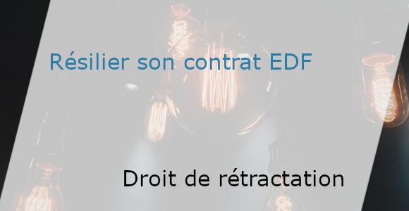 droit de rétractation contrat EDF