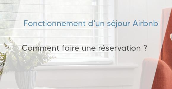 réservation séjour airbnb