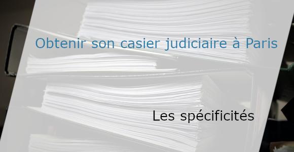 les spécifités du casier judiciaire