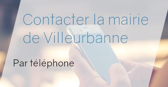 téléphone mairie villeurbanne