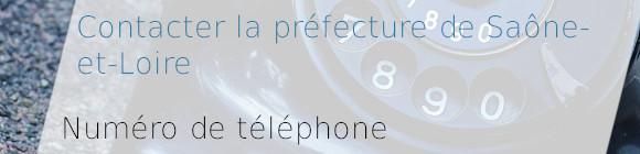 téléphone préfecture Saône-et-Loire