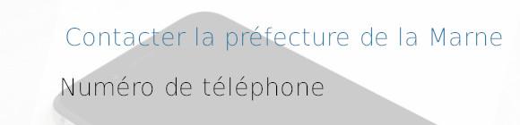 téléphone préfecture marne
