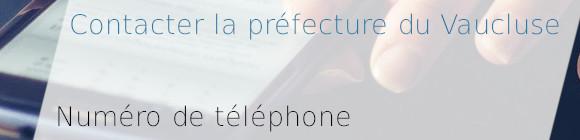 téléphone préfecture vaucluse