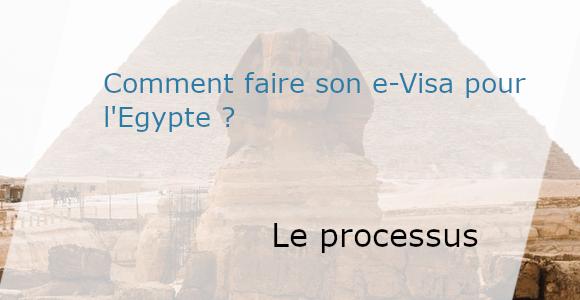 processus de demande e-visa Egypte